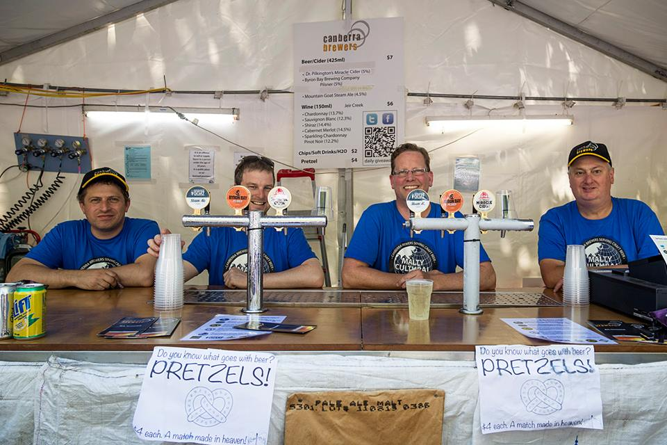 The Canberra Brewers Stall