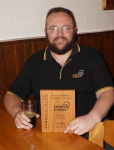 Craig Robinson Memorial Clubman of the year Chris Duffy